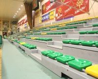 Bezpieczne, wygodne, wytrzymałe - takie są trybuny sportowe od firmy Wamat z Mielca! goo.gl/cgFXFm #trybuny #sportowe