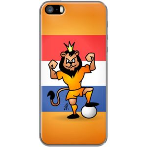 Orange lion football hero By CardVibes for                           Apple iPhone 5/5s #TheKase #Cardvibes #Tekenaartje #iPhone #Smartphone #cover #case