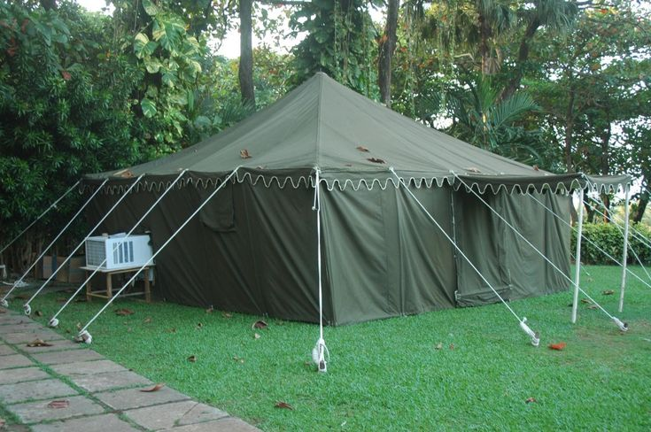 Army Tent in Green color. More #militarytents #tambus #tentsforarmy by Sangeeta International