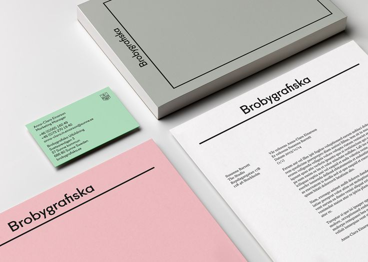 Visual identity and stationery for Brobygrafiska by The Studio.
