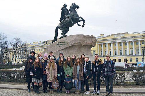 Neuntklässler des MPG-Göttingen besuchen Partnerschule in St. Petersburg