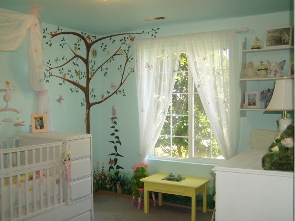 Oh goodness, I think I might be drifting away from my original Hello Kitty theme... -fairy nursery