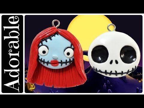 Halloween Special: Jack Skellington and Sally Earrings Tutorial Nightmare Before Christmas - YouTube