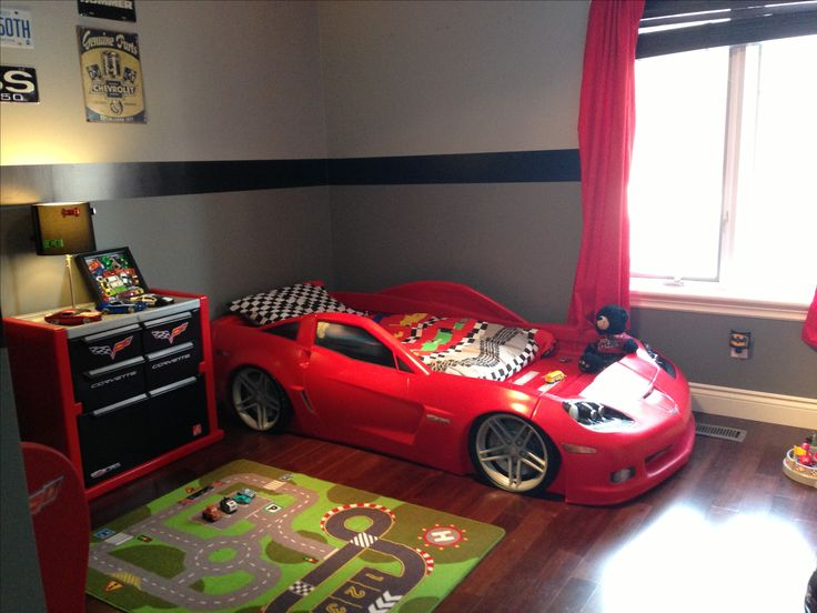 Bedroom boys car big boy ideas room racing race bedrooms for Car bedroom ideas for boys