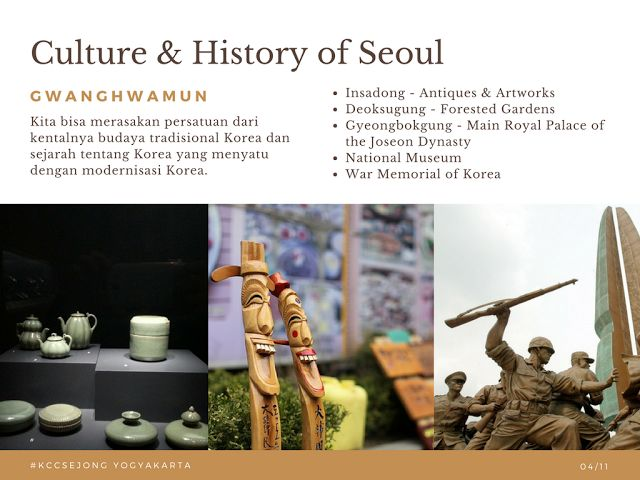 Liburan Korea - Insadong Seoul 23 Oktober 2017 KCC Sejong Jogja