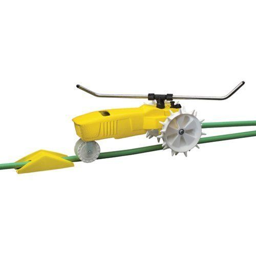 Raintrain Traveling Sprinkler tractor - self propels across the lawn it travels #Nelson