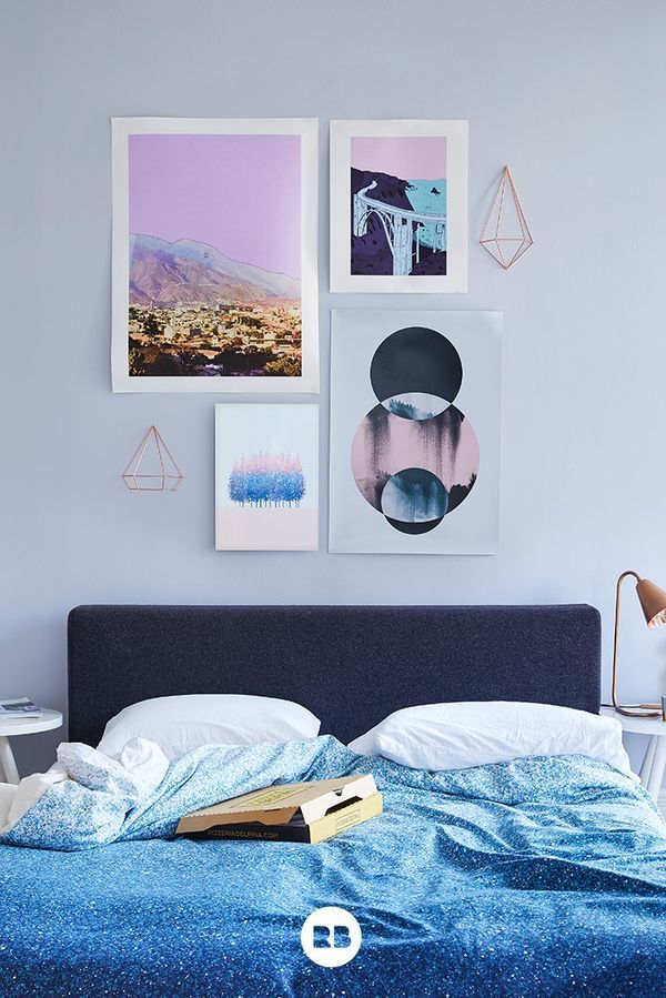 Feminine Lovely Lilac Room | Bedding Lavender Pink Dorm Poster Circles Geometry Geometric Minimalist Watercolor | Prints by Cassia Beck |Fernandaschalle | Metal Tree Print by Roh42 | Photographic Art by Mareike Böhmer | Duvet by Daniel Coulmann [Promotional Pin]