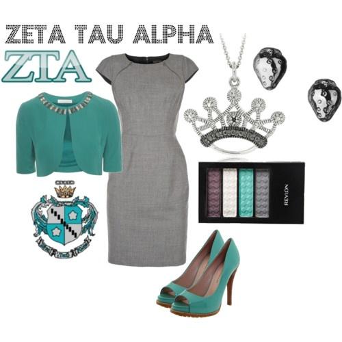 Zeta Tau Alpha: Sorority Clothing, Zeta Lady, Color Combos, Floor Stairs, Outfit, Dresses, Necklaces, Fashion Fun, Zeta Tau Alpha