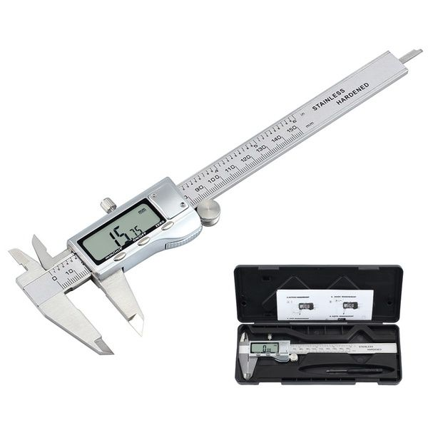 Quality Electronic Digital Caliper Inch//Metric//Fractions Conversion 0-6 Inch//150