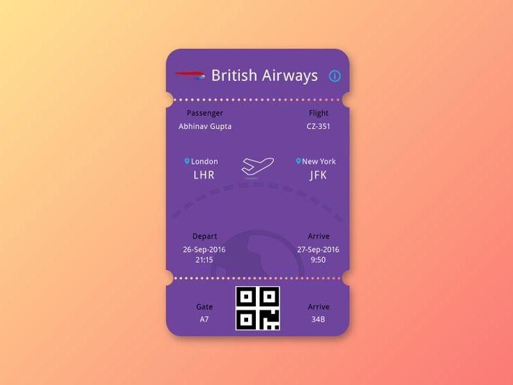 Boarding Pass/E-Ticket