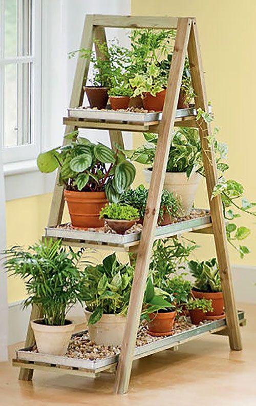 Лестница стеллаж для цветов