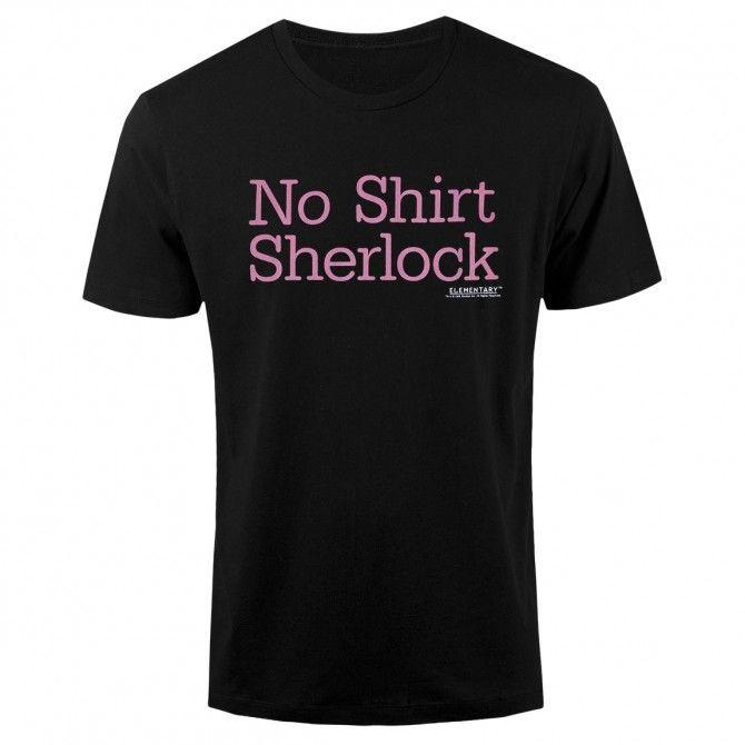 Elementary No Shirt Sherlock T-Shirt