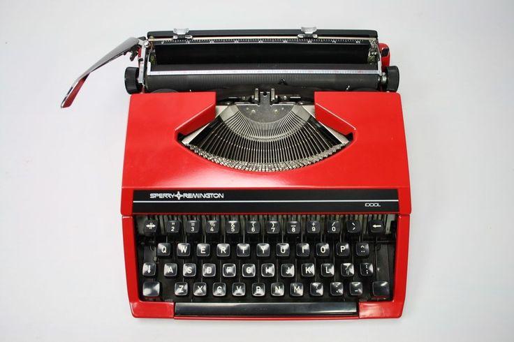 idool typewriter red | sperry remington