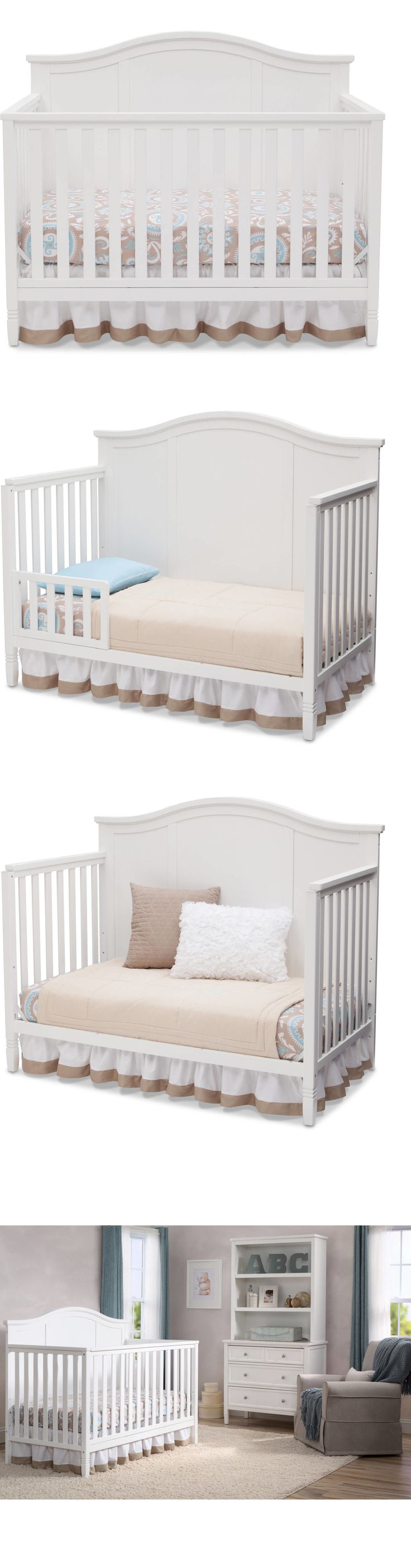 Nursery Furniture 20422: 4-In-1 Convertible Crib Toddler Bed Daybed And Full Size Bed White -> BUY IT NOW ONLY: $186.7 on eBay!