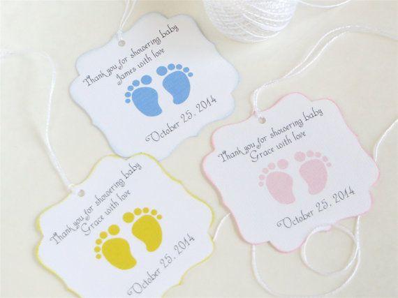 Baby feet custom Baby shower favor tags by WildSugarberries