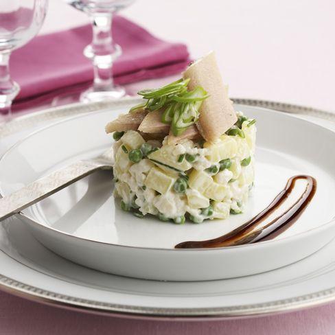 Recept aardappeltartaar met bloemkool en gerookte paling