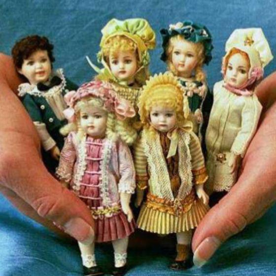 Tiny Bisque antique dolls