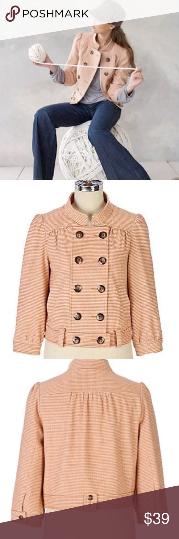 Anthropologie Idra Earhart Wool Retro Bomber NWOT Anthropologie Idra Earhart Wool Bomber in Houndstooth • Crop sleeves • retro Vintage Look • NWOT • no trades Anthropologie Jackets & Coats