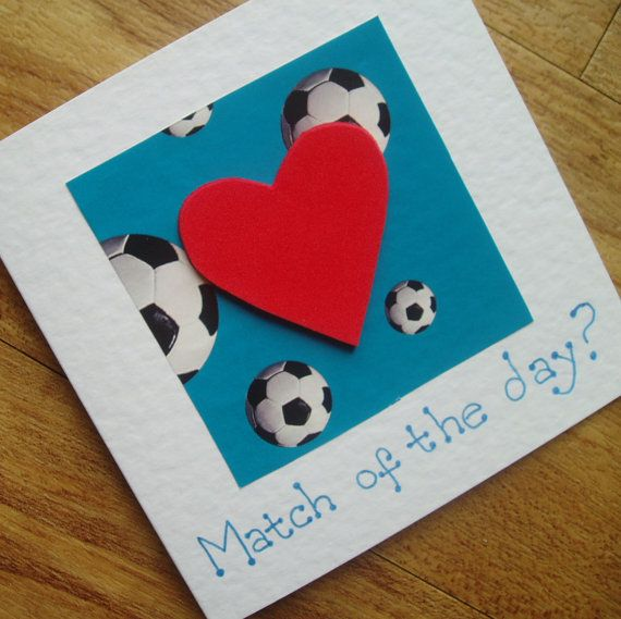 Match of the day football card by onelittlepug on Etsy, $2.25