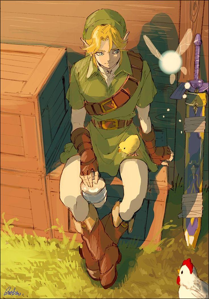 Ocarina of Time Link by @yabedesu #nintendo #legendofzelda #fanart
