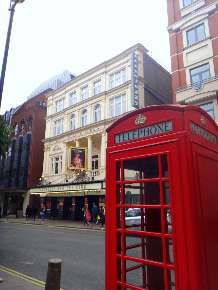 Duke of York Theatre, haunted, London, Phone box, Red
