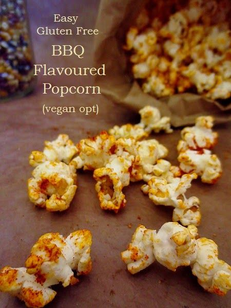 Poor and Gluten Free (with Oral Allergy Syndrome): Gluten Free Barbeque Flavored Popcorn (organic, with vegan option) + Meatless Monday