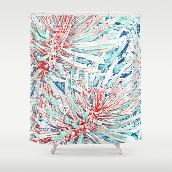 Tropical abstract(12) Shower Curtain