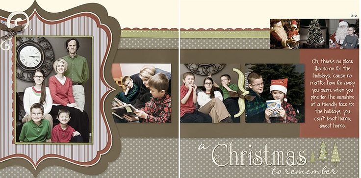 Christmas digital #scrapbooking layout idea from #CTMH