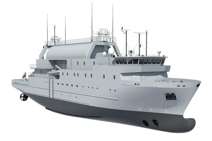 Saab Announce First Steel Cutting of Swedish Navys Future SIGINT Vessel