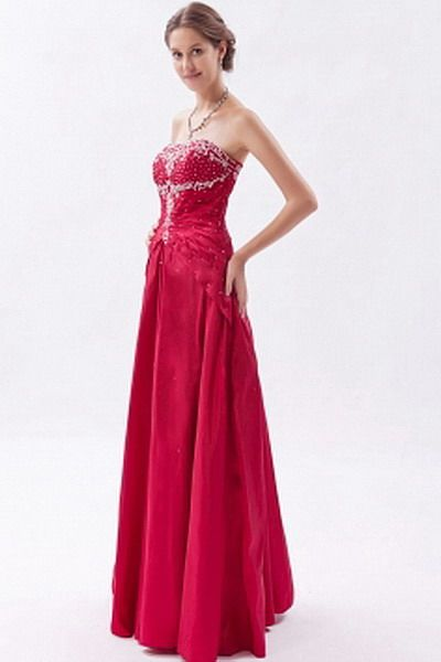 A-Line Sweetheart Taffeta prom Gown - Order Link: http://www.thebridalgowns.com/a-line-sweetheart-taffeta-prom-gown-tbg7370 - SILHOUETTE: A-Line; SLEEVE: Sleeveless; LENGTH: Floor Length; FABRIC: Taffeta; EMBELLISHMENTS: Applique , Beading , Ruched , Sequin - Price: 147USD