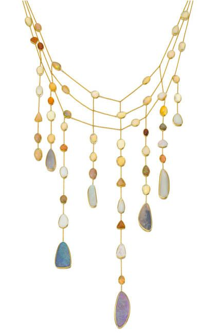"Spectacular Pippa Small waterfall necklace in US Vogue. ""The Week in Gems - Pippa Small Jewellery"""