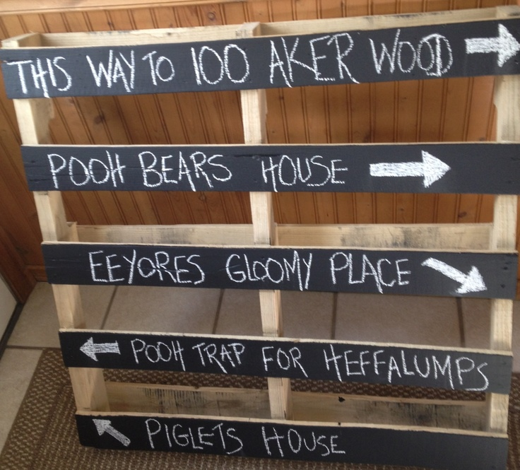 100 Acre Wood Pallet Sign I Made For Kara S Shower With