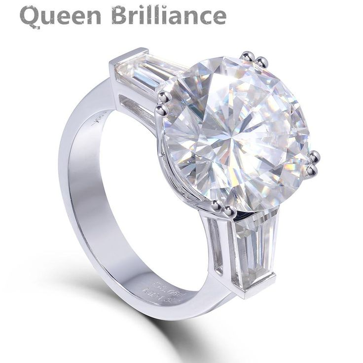 Ring. Genuine 14K 585 White Gold 8 Carat F Color Lab Grown Moissanite Diamond Engagement Wedding Ring Test Positive DiamondDeep discounts on over 300 products that enhance your life from day to day! Items for men and women of all ages, also teenagers. Take a look at our #jewelry #handbags #outerwear #electronicaccessories #watches #umbrellas #gpspettracker  #electronicaccesories #BGLO #pendants