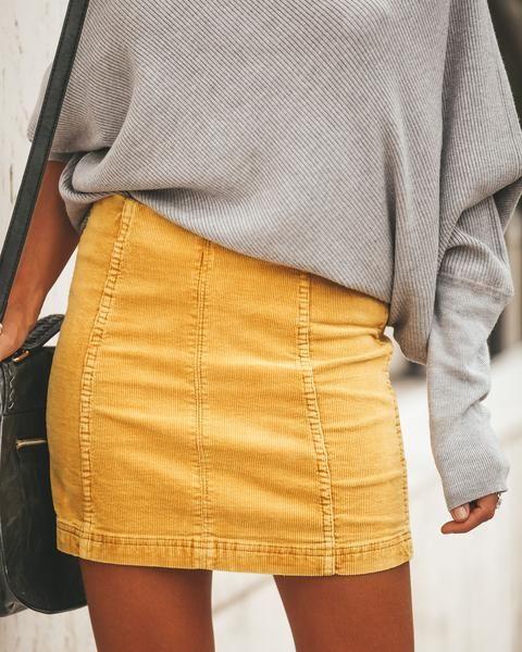 96187d983 Studio 54 Corduroy Mini Skirt - Mustard   Clothing Styling Tips ...