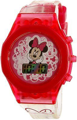 Disney Girl's Minnie Mouse MINKD16017LS Pink Plastic Quartz Fashion Watch in Jewelry & Watches, Watches, Parts & Accessories, Wristwatches   eBay