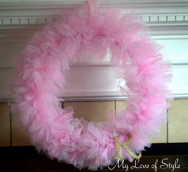 DIY Pink Tulle Tutu Wreath
