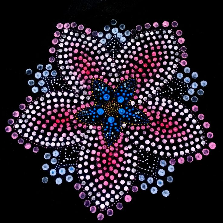 New design for dreadhat - dot flower mandala, handmade, handpainted, dotpainting