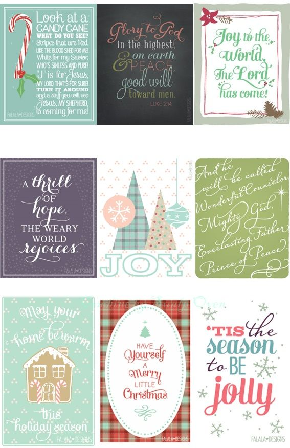 FREE 25 days of Printable Christmas...by falala designs