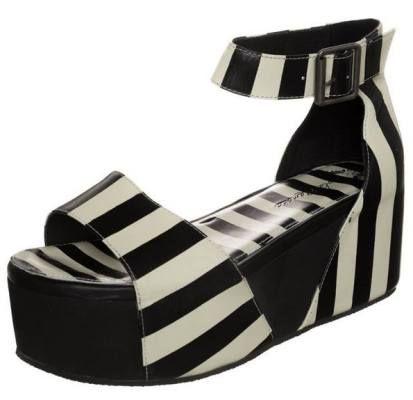 Lola Ramona Sally Sandalias Con Plataforma Black White sandalias calzado white sandalias Sally Ramona plataforma Lola black Noe.Moda