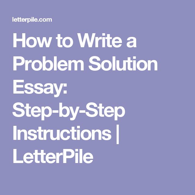 introduction problem solution essay Welcome to the purdue owl  the introduction is the broad beginning of the paper that answers  you do not have to argue for a solution to the problem at this.