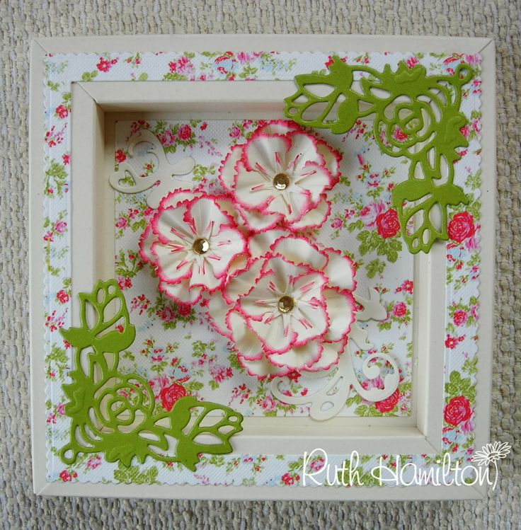 A Passion For Cards: Floral frame