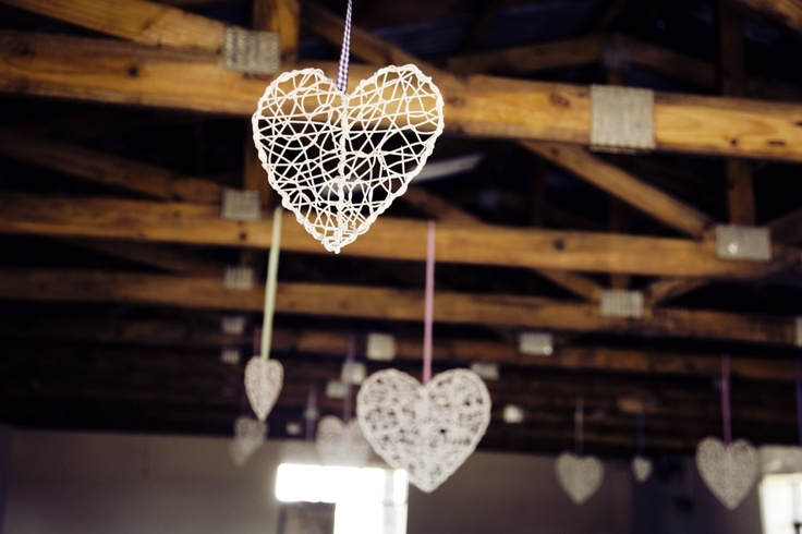 Wedding Chapel Decor - Hanging Hearts