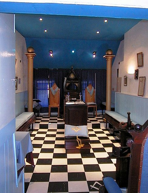 The lodge room in the old masonic hall in Galway, Ireland. This is where my masonic career started. I did my Entered Apprentice and Fellowcraft degrees here, but was raised to Master Mason in Athlone at the home of Lodge 101.