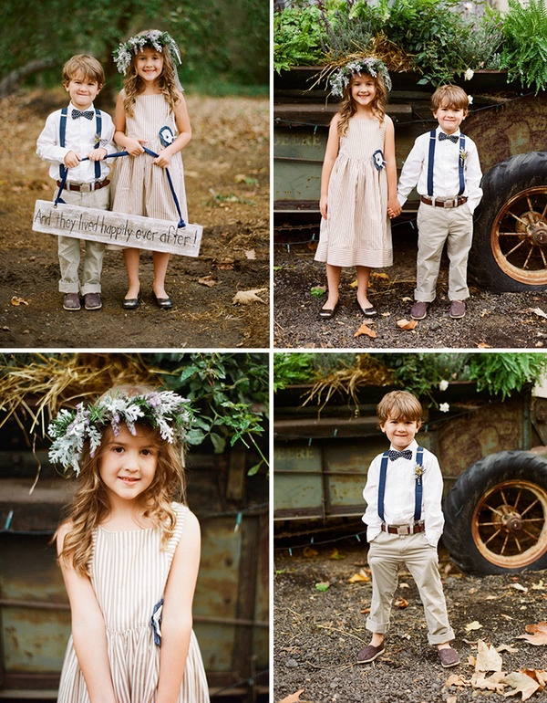 Flower girl/ ring barer (sorta anyway, I'm not sure what you call children banner holders at weddings. no matter how trendy) via the brilliant photography of Braedon's Blog