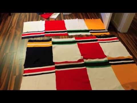 D.I.Y. GONGSHOW inspired hockey sock blankets - YouTube