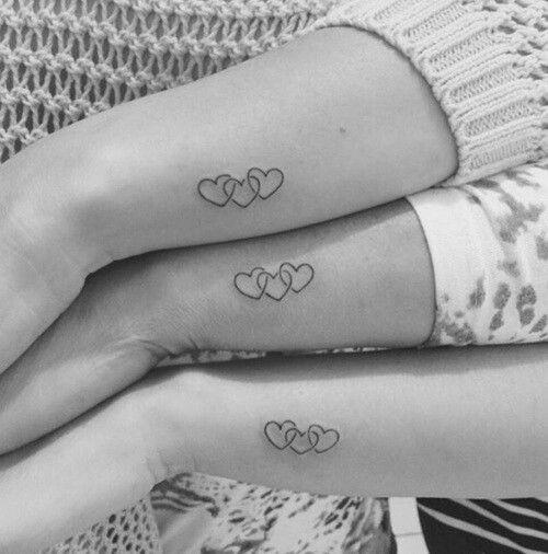 Moeder en dochter tattoo