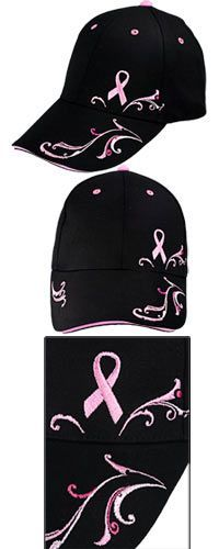 Pink Ribbon Filigree Baseball Hat at The Breast Cancer Site - Love it, Can't wait to get it!