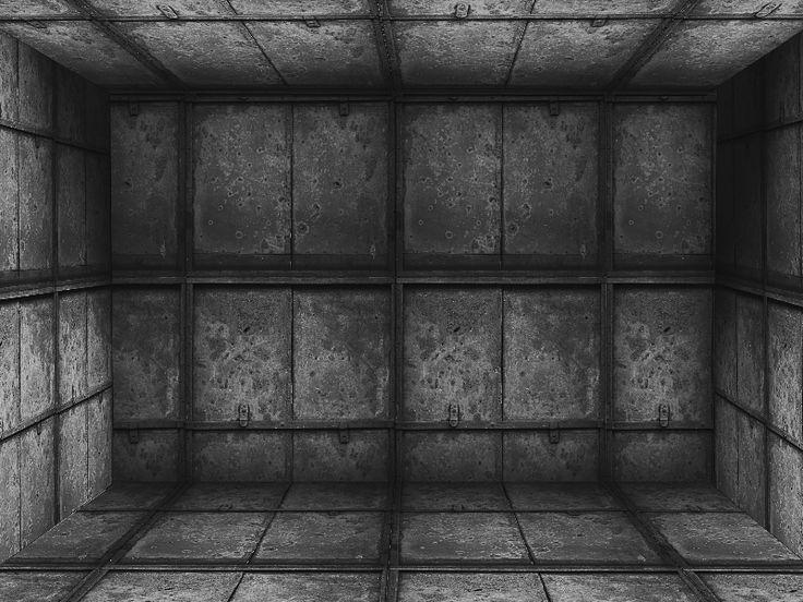 Grunge Industrial Metal Room Background Free