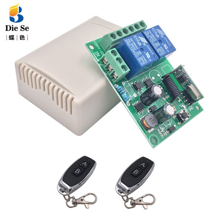 433Mhz Remote Control Switch for Light,Door, Garage Universal ...