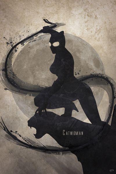 Catwoman Art Print by Anthony Genuardi on Society6